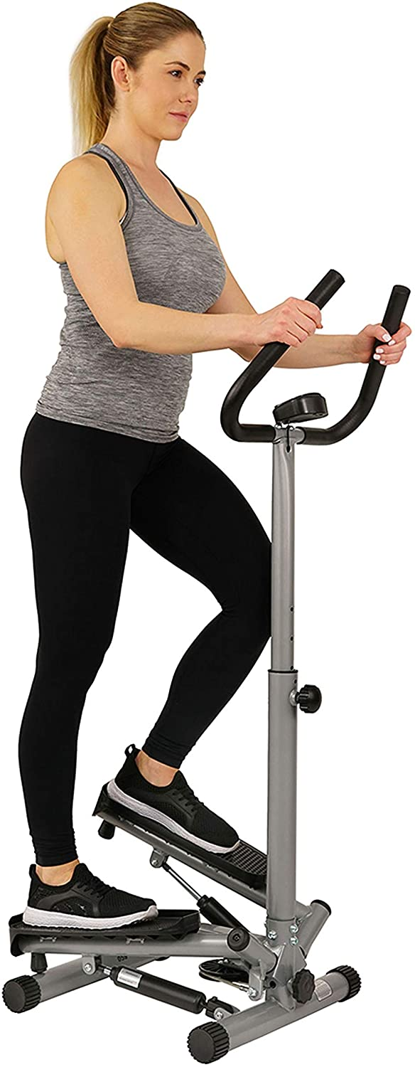 Woman uses stepper