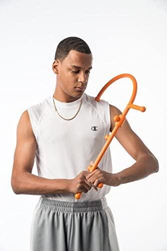 Man uses orange thera cane